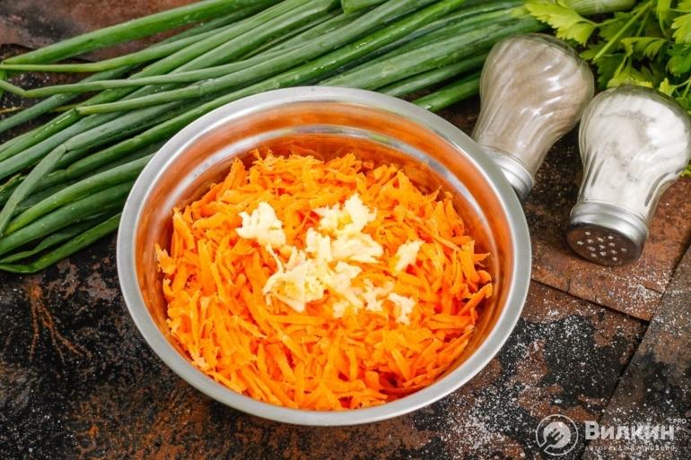 Морковь с майонезом и чесноком для похудения