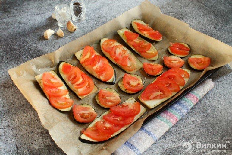 выкладка томатов
