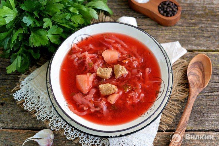 борщ рецепт классический с фото со свининой стиль хай-тек популярен
