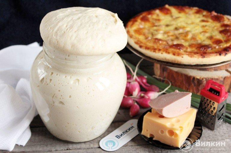 Тесто на пиццу с сухими дрожжами