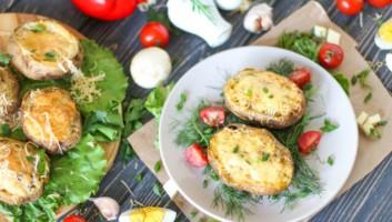 картошка с начинкой в духовке