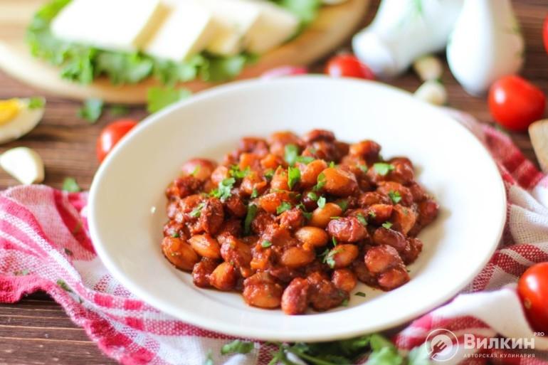 Фасоль в томатном соусе на диете