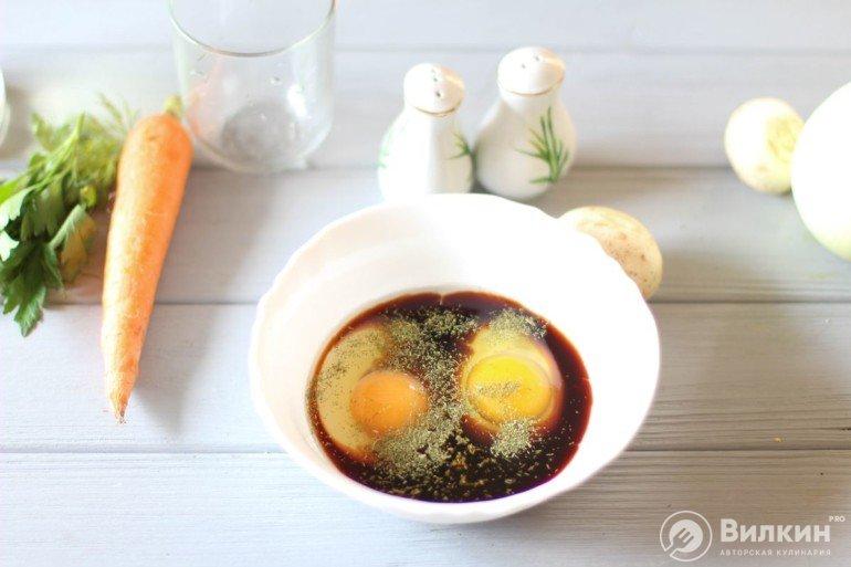 соевый соус с яйцами