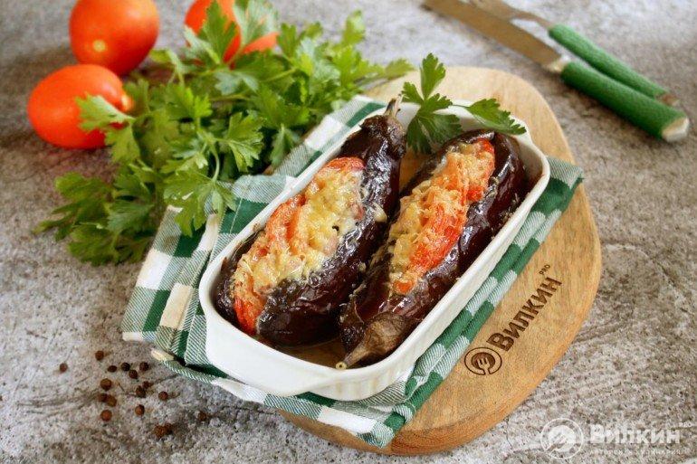 запеченные баклажаны с мясной начинкой