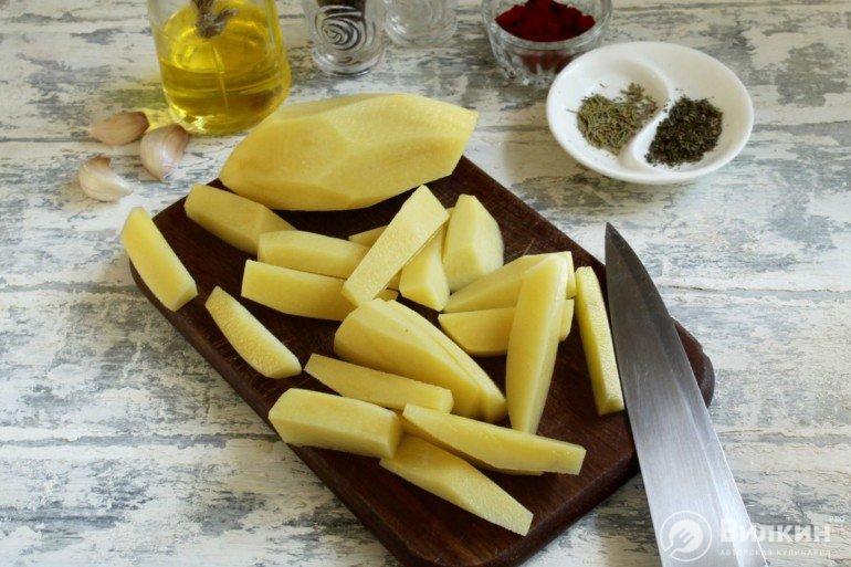 нарезка картошки
