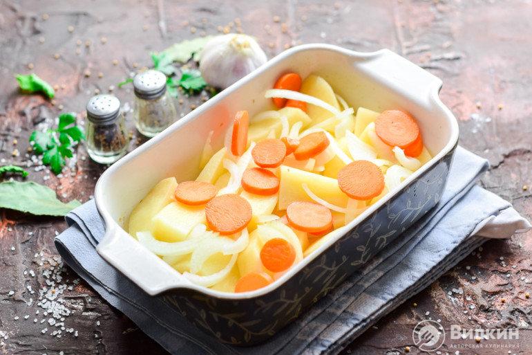 добавление морковки