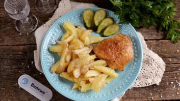 картошка с курицей в майонезе