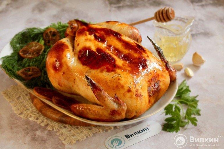 Курица в медовом соусе в духовке