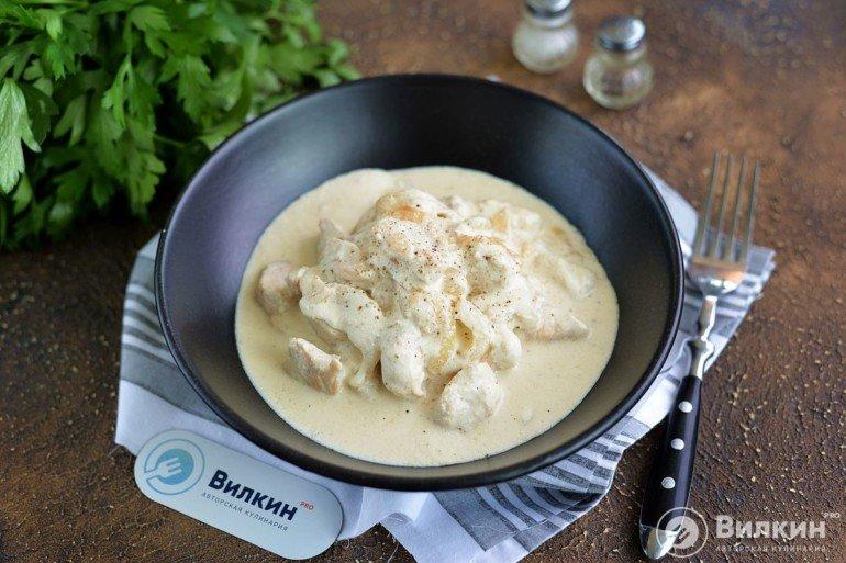 Филе курицы в сливках на сковороде
