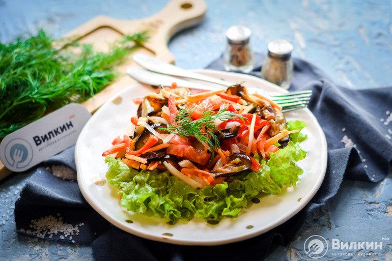 готовый салат с овощами
