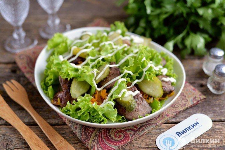 готовый салат из печени