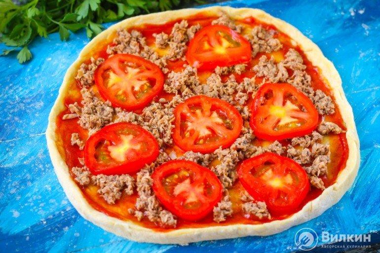 кружочки томатов