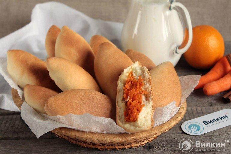 морковные пирожки к чаю