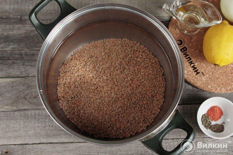 промывание чечевицы