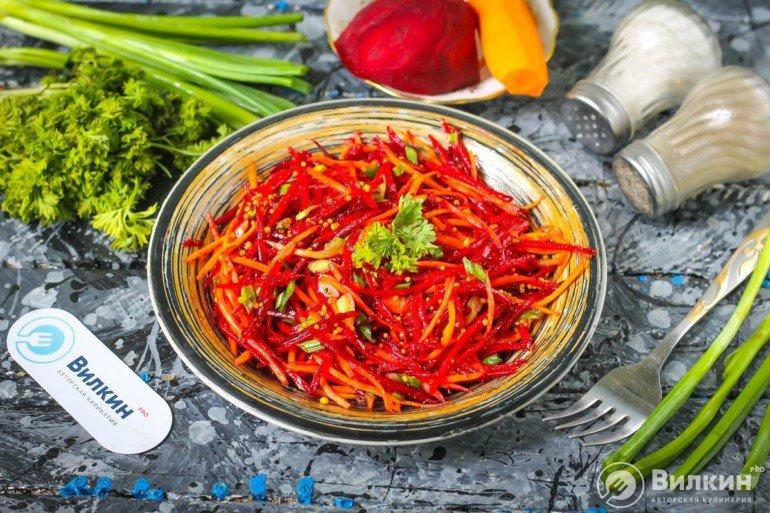 готовый овощной салат