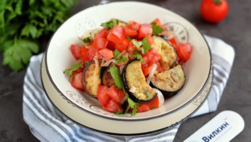 армянский салат с баклажанами и помидорами