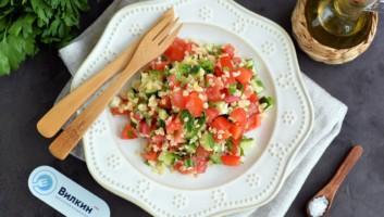 овощной салат с булгуром