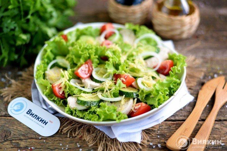 готовый диетический салат