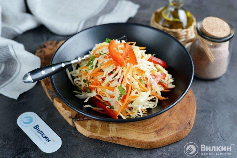 Салат «Витаминный» из капусты и моркови