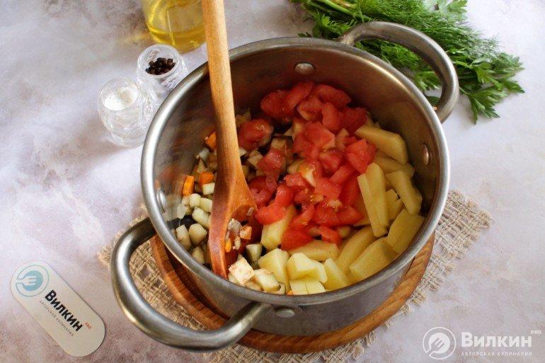 помидор и картошка
