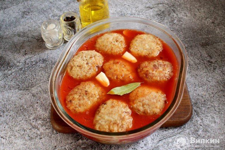 заливка томатным соусом