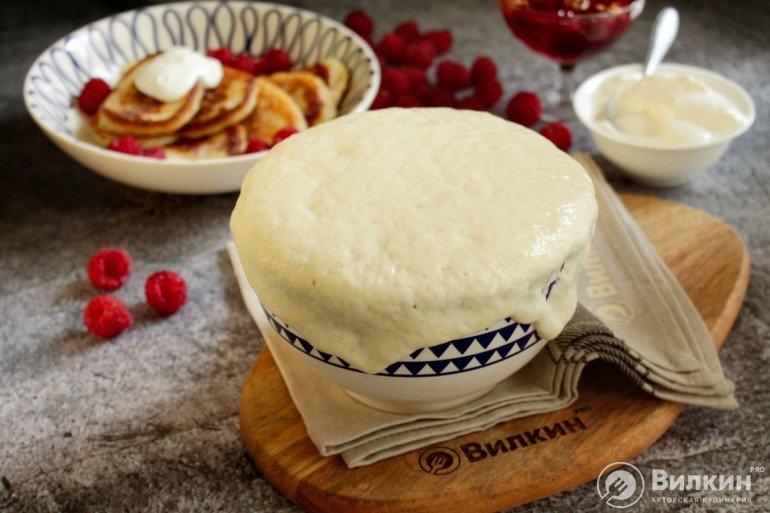 дрожжевое тесто для оладий