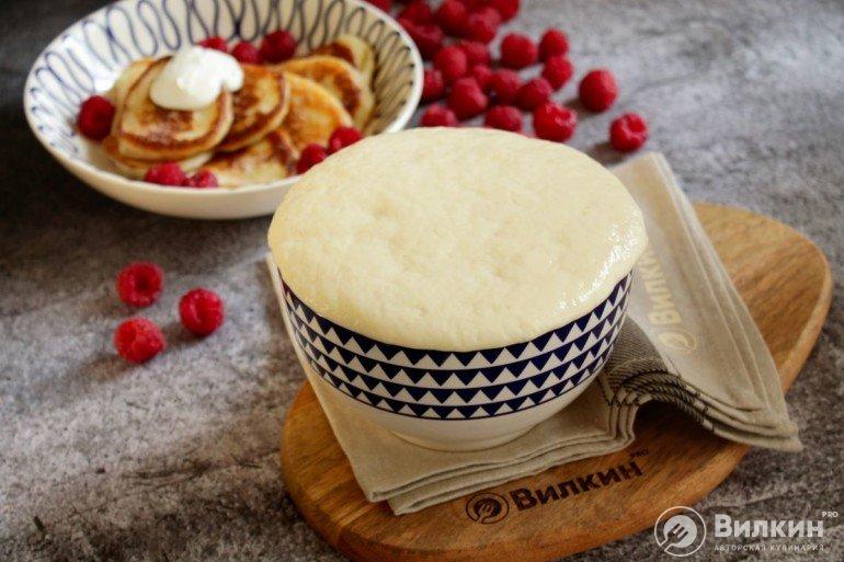 Дрожжевое тесто на оладьи