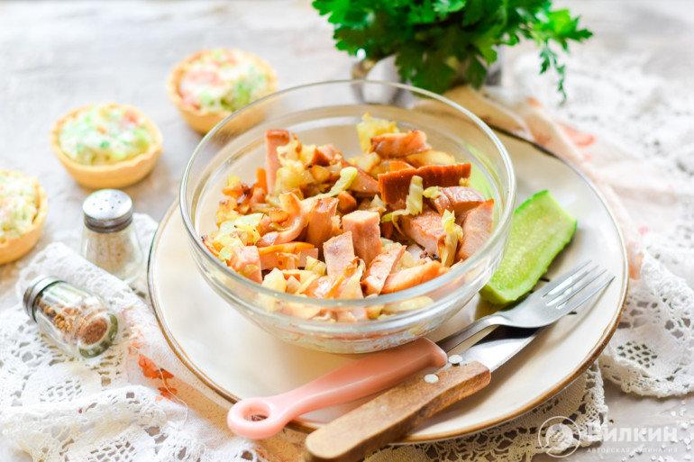 порция капусты с балыковой колбасой