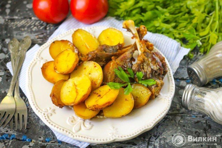 Утка с картофелем в духовке