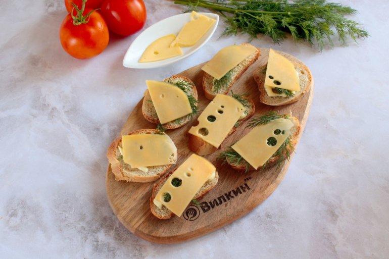 раскладка сырных слайсов