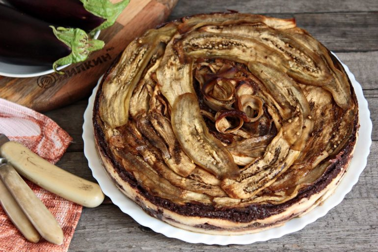 диетический торт из баклажанов