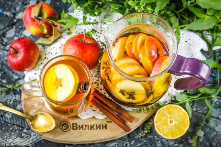 ароматный чай из фруктов