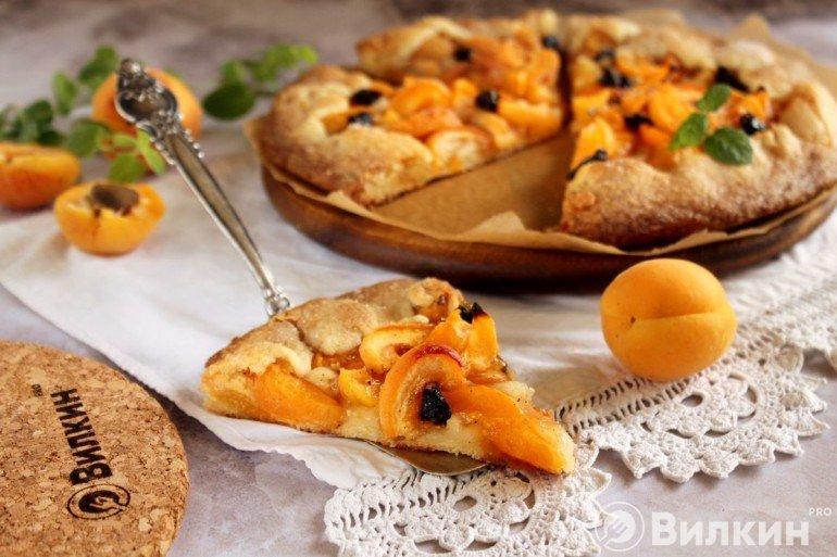 кусочек пирога с абрикосовой начинкой