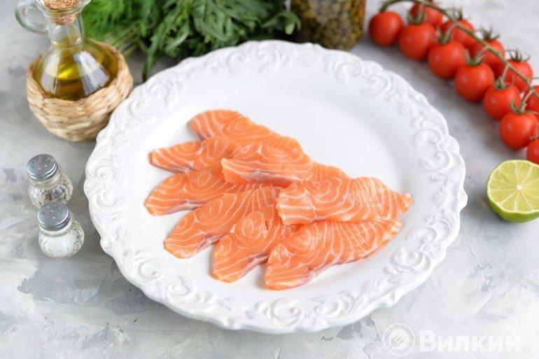 слайсы лосося