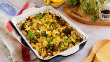 запеченная картошка с брокколи