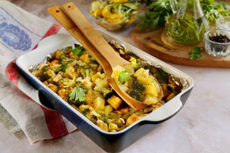 картофель с капустой брокколи