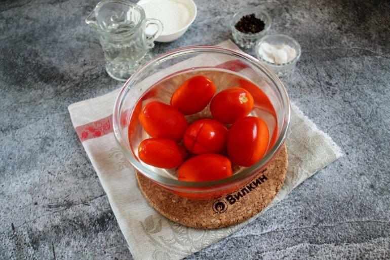 помидоры в кипятке