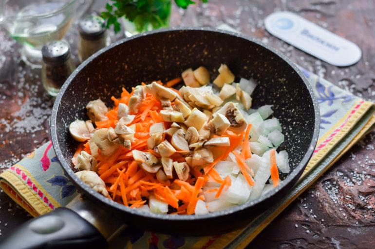 пассеровка овощей и грибов