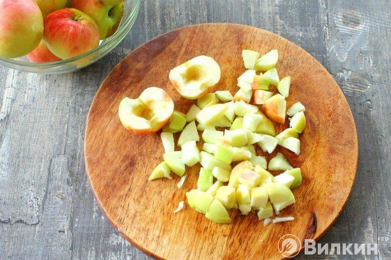 нарезка яблок