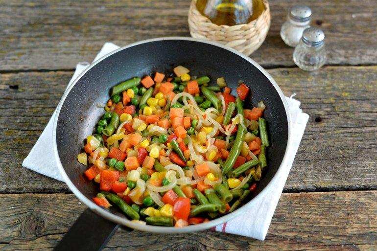 обжарка замороженных овощей