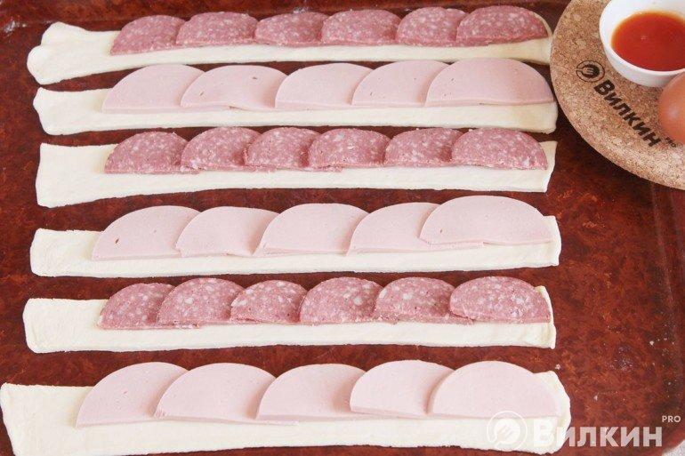 выкладка колбасных полуколец
