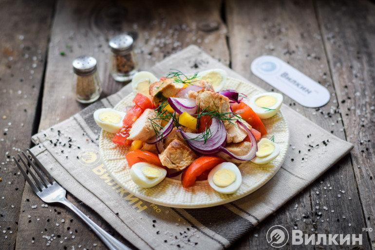 диетический салат из филе индейки