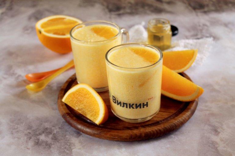 апельсиновый смузи на йогурте