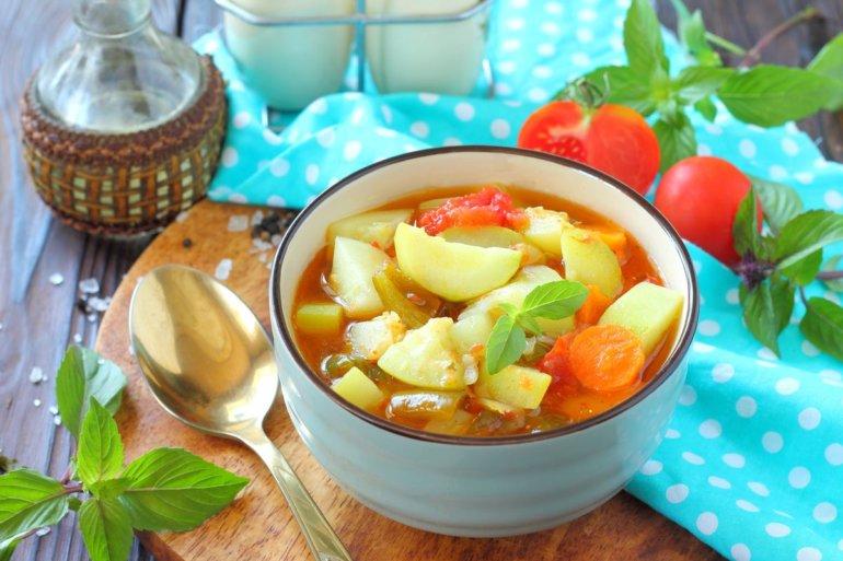 Соте из овощей с кабачками