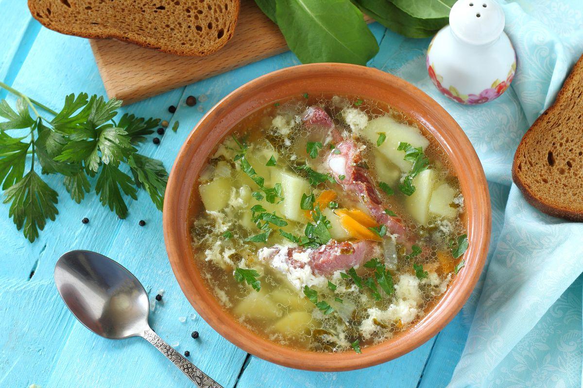 как приготовить щавельный суп рецепт с фото очки представлены