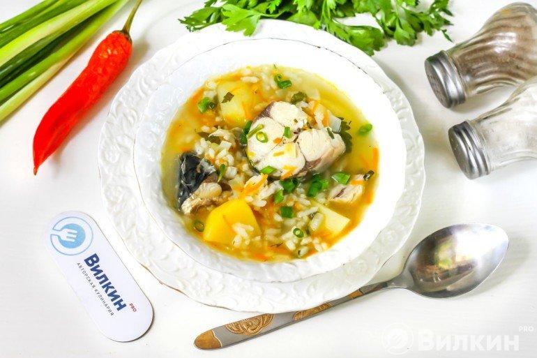 Рыбный суп из свежемороженой скумбрии