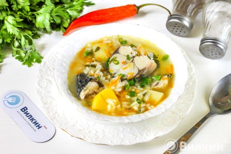 порция рыбного супа