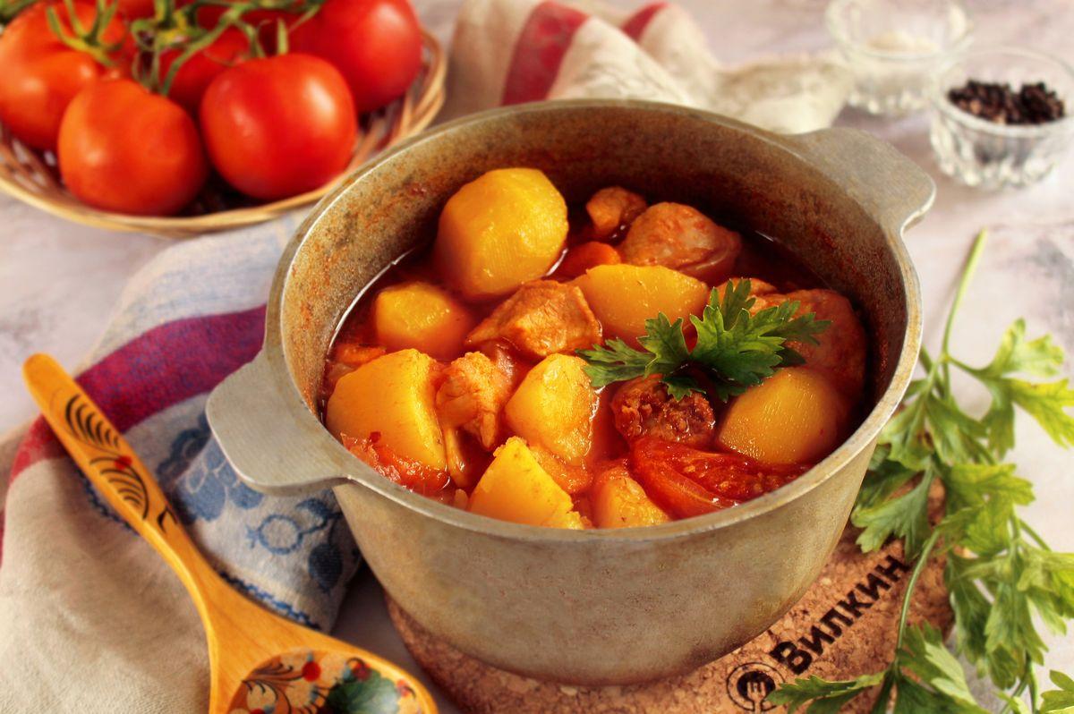 тушеные овощи в казане рецепт с фото маникюр коротких