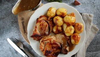 мясо в меде с картошкой