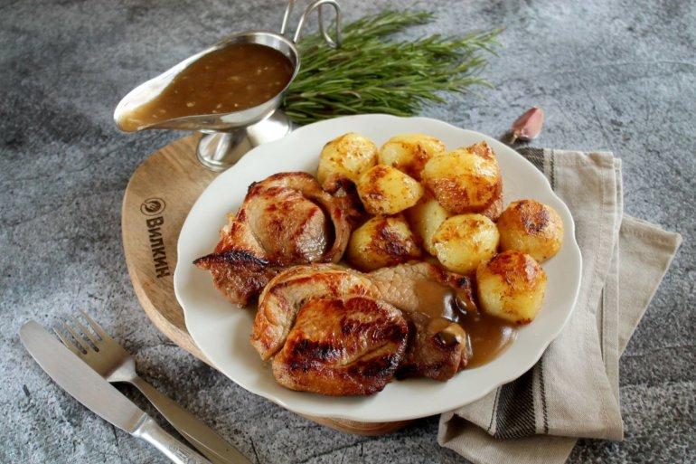 свинина с медом